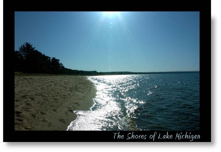 Photo of Lake Michigan in sunlight