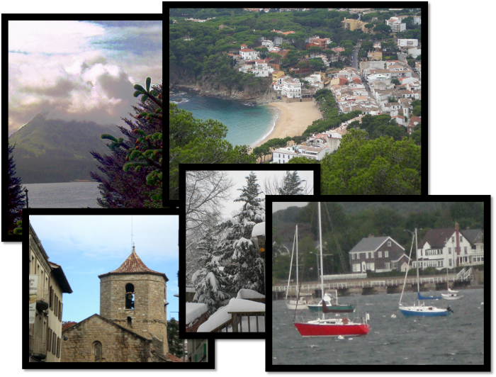 Collage of photos from beach to snow- showing a variety of locations to retire